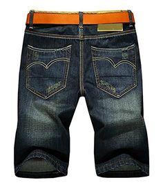 LATUD Men's Casual Denim Shorts #mens #fashion #apparel #clothing