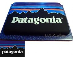 Patagonia logo cake, we should order one for the next PK!