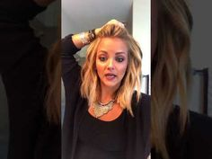 How to get BIG straight hair! - YouTube