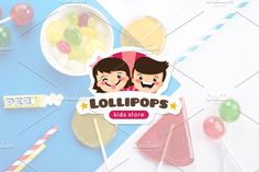 Lollipop. Kids Logo by Trapezoid on @Graphicsauthor