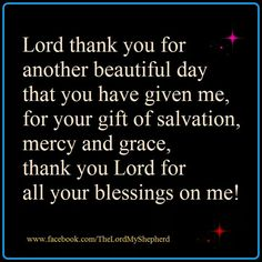 Lord, I thank you