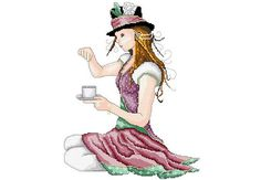 The awesomeness is not to be understood! Cross Stitch Pattern Mad Hatter by LastingAllure on Etsy, $7.00