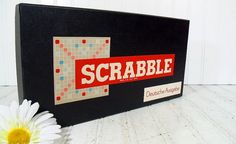 German Edition Scrabble Game  Vintage Tiles Board by DivineOrders, $37.00
