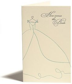 Greeting Cards - Wedding - Here Comes The Bride - Snow & Graham: Letterpress Stationery, Invitations, Greeting Cards and Calendars