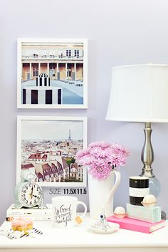Nightstand Styling | Artwork by Annawithlove www.annawithloveshop.com