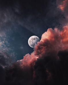 Kingdoms by anminear night moon moonlight sky moonscape 217650594477545374 Night Sky Moon, Night Skies, Night Clouds, Pastell Wallpaper, Ciel Art, Earth From Moon, Ciel Nocturne, Night Sky Painting, Night Sky Wallpaper