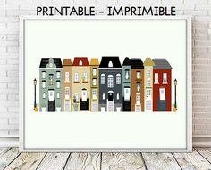laminas decorativas, laminas casas, laminas ciudades, cuadros decoracion, laminas imprimibles, casas decorativas, ilustraciones