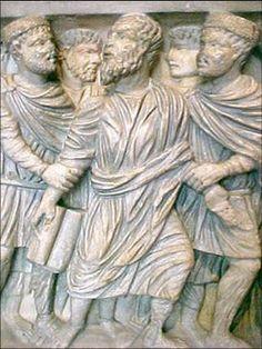 Relieve en marmol paleocristiano,este corresponde al Mausoleo de Santa Constanza,que se construyo en Roma durante el Gobierno de Constantino,en el siglo  IV