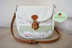 Hothot Ginger ♥ Handmade Craft 手作杂货: Green Xmas Town Sling Bag // 绿色圣诞小镇斜挎包 / SOLD