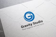 G Logo - Gravity Studio Logo Templates vectorEPS filesFully editableFont used: Myriad Pro by Made by Arslan G Logo Design, Modern Logo Design, Logo Design Template, Logo Templates, Corporate Identity Design, Brand Identity Design, Business Brochure, Business Card Logo, Studio Logo