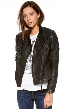 Via:LuckyMagazine 30 Luxe Leather Jackets You Can Actually Afford