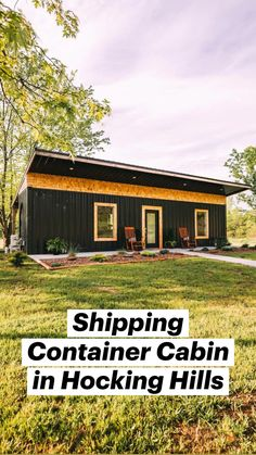 Building A Container Home, Container House Design, Small House Design, Shed To Tiny House, Tiny House Living, Shipping Container Cabin, Shipping Containers, Cabin Homes, Tiny Homes