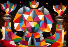 Remed and Okuda. #remed_and_okuda http://www.widewalls.ch/streets-of-colour-remed-okuda-toronto/