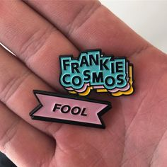 """4,699 Likes, 71 Comments - Frankie Cosmos (@frankiecombos) on Instagram: """"New pins! Limited supply! For sale on @strikegentlyco ! designed by @gypsum_fantastic ! get em…"""""""