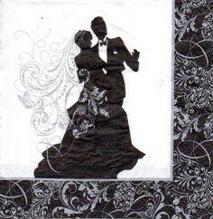 Serviette tanzendes Paar