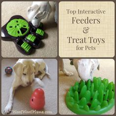 Interactive treat toys are a great way to keep busy dogs engaged, active and stimulated. Here's a list of the best of the best from @Lisa Boltz Woof Mama