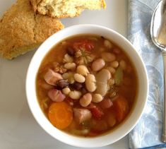 13-Bean Soup with Kielbasa by One Cook Two Kitchens