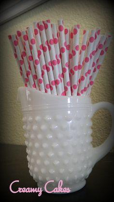 SALEHello Kitty Pink Dot Paper StrawsHello by creamyspecialtycakes, $3.75