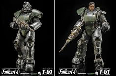 Threezero Fallout 4 1:6 T-51 Power Armor  Thinkgeek Exclusive #Fallout4 #gaming #Fallout #Bethesda #games #PS4share #PS4 #FO4