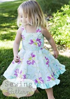 The Twirly Dress (Size 1 to 7) Sewing E-Pattern and Tutorial. $6,00, via Etsy.