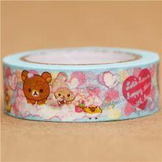 blue Rilakkuma bathing foam Washi Masking Tape deco tape