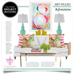 """""""Art-Filled & Feminine With The Pink Pagoda"""" by hatzjeanz on Polyvore"""