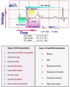Learn ECG Interpretation 10 Steps to Learn ECG Interpretation Learning the art of ECG interpretation requires intellect, commitment,… Nursing School Notes, Nursing Schools, Lpn Schools, Ekg Interpretation, Nursing Cheat Sheet, Nursing School Prerequisites, Cardiac Nursing, Pediatric Nursing, Critical Care Nursing