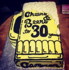 Schokoladen-Kahlua-Kuchen als Bier . 30th Birthday Cakes For Men, Birthday Cake For Husband, 60th Birthday Cakes, Birthday Cupcakes, Birthday Cheers, Husband Cake, Birthday Gifts, Birthday Nails, 30th Cake