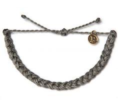 34bbc4012d69c Dark Grey Braided - Gri Bileklik - #elyapimi her bileğe göre #ayarlanabilir  #rengarenk örgü #bileklik takı tasarımı, Pura Vida Bracelets, ...