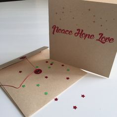 Peace Hope Love Christmas Card by GraceHawk on Etsy @designsbygracehawk #designsbygracehawk etsy.com/shop/gracehawk