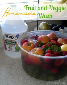 Homemade Fruit and Veggie Wash I normally go for homemade tapwater, but for those that like something more, here's a made at home produce wash