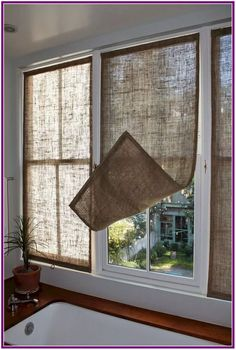 Kitchen Window Coverings Diy Home 38 Ideas Kitchen Window Coverings, Farmhouse Window Treatments, Sunroom Window Treatments, Kitchen Window Curtains, Window Drapes, Cheap Window Treatments, Bathroom Window Privacy, Bathroom Blinds, Window Shutters