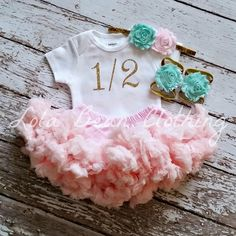 Hey, I found this really awesome Etsy listing at https://www.etsy.com/listing/253880647/baby-girl-12-birthday-outfit-cake-smash