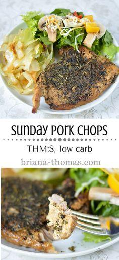 Sunday Pork Chops...THM:S, low carb, super easy, make ahead, kid friendly