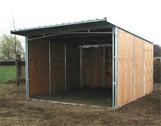 Noble Trainer Series Horse Barns are an easy to erect pre-fabricated stall barn with a wide aisle. Horse Shed, Horse Stalls, Horse Barns, Lean To Shelter, Plywood House, Diy Storage Shed Plans, Art Shed, Horse Shelter, Pony Horse