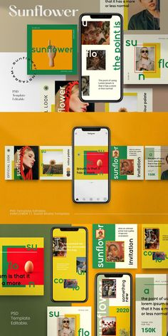 Give your feed noticed with sunflower Social Media Template Social Media Poster, Social Media Content, Social Media Design, Social Media Graphics, Social Media Marketing, Marketing Ideas, Ideas Fotos Instagram, Instagram Banner, Banner Design Inspiration