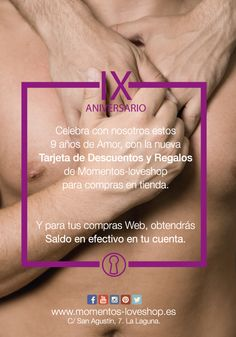 9º Aniversario Momentos-loveshop. Todas las novedades también en www.momentos-loveshop.es
