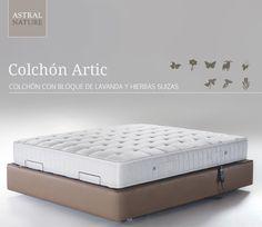 Colchón Artic, elaborado con 8 materias primas naturales para un descanso natural.