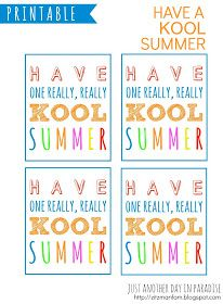 """Just Another Day in Paradise: Have a """"Kool"""" Summer Printables"""