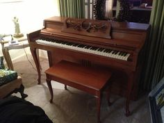 Found on EstateSales.NET: very nice quality and condition piano...slightly larger than spinet sized...