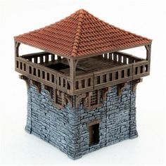 Dungeons And Dragons, Warhammer 40k Tabletop, Model Castle, Wargaming Terrain, Game Terrain, Unique Buildings, Goblin, Medieval Town, 3d Prints