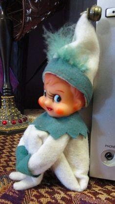 Vintage 60s Elf Elves Pixie Christmas Knee Hugger Green White Bell | eBay
