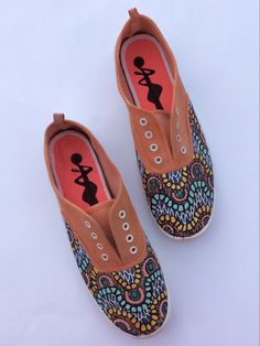 Orange Ethnic Shoes by 2Woo on Etsy https://www.etsy.com/listing/201149325/orange-ethnic-shoes