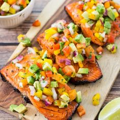 This BBQ Salmon with Avocado Salsa is going to become your next go-to weeknight dinner. It's ready in just 20 minutes people!