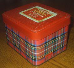 vintage ARNOTTS ARNOTTS Biscuit Tin ROYAL STEWART tartan shortbread tin RED LID   eBay