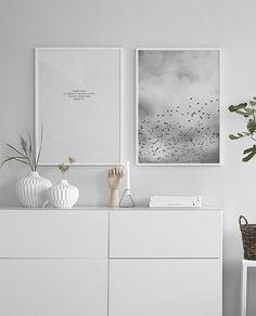 Schwarz-weiße Plakate mit Fotokunst...
