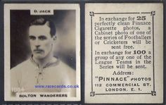 David Jack, Arsenal legend, whilst still at Bolton Wanderers, here on one of the rarer higher number Godfrey Phillips Pinnace cigarette cards later (rarer!) issues, from 1923. SO EASY TO BUY right NOW, postage included, click here:  https://www.paypal.me/rarecards/35.84 #Bolton Wanderers Pinnace K high number 1084 David Jack trotters frameline 1923 Godfrey Phillips football rookie card soccercard cigarette ca#David jack#Arsenal#Bolton Wanderers#1084#pinnace high number