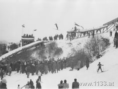 Wintersport in Ober St. Old Pictures, Vienna, Austria, Paris Skyline, Outdoor, Travel, Vintage, Historical Photos, Nostalgia