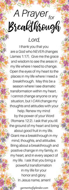 Need a change in your life? Use these 63 Scriptures to pray for a change in your life. Pray these Scriptures to change in your attitudes or circumstances! Prayer Scriptures, Bible Prayers, Faith Prayer, God Prayer, Power Of Prayer, Prayer Quotes, Faith Quotes, Powerful Scriptures, Quotes Quotes