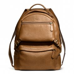 Coach : BLEECKER BACKPACK IN PEBBLED LEATHER $598